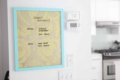 beach house in the city: dry-erase message board diy