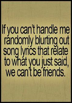 Lyrics, lyrics, lyrics...in my head