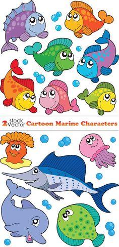 Мультяшные рыбки в векторе | Vector Cartoon Fish