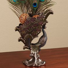 Noble Peacock Decorative Bronze Bowl / Touch of Class Peacock Decor, Peacock Colors, Peacock Theme, Peacock Design, Peacock Feathers, Peacock Christmas Tree, Peacock Pictures, Feather Wall Art, Victorian Furniture
