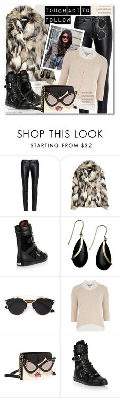 """""""Faux Fur Coat"""" by petri5 on Polyvore featuring Yves Saint Laurent, H&M, Jimmy Choo, 3.1 Phillip Lim, Christian Dior, Dorothy Perkins, Betsey Johnson, Vince Camuto, women's clothing and women"""