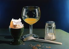 Realistic Paintings: Tjalf Sparnaay was born in Haarlem, Netherlands in the year He is a combination of artist, photographer, illustrator and painter. Though Tjalf Sparnaay's education Hyper Realistic Paintings, Realistic Drawings, Rembrandt, Tjalf Sparnaay, Food Painting, Dutch Painters, Dutch Artists, Still Life Art, Art Graphique
