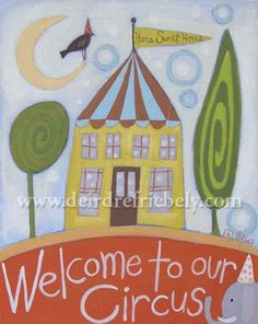 """our circus"" acrylic on canvas       © d.friebely 2007"
