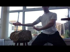 Iron Palm and Fist Rock Training. Iron Body Martial Arts. | Sport Intensity