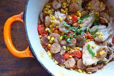 A seasonal end-of-summer stew.