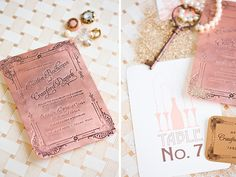 I want pressed invites on all metallics involved in the wedding color scheme