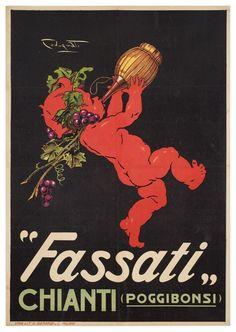 Chianti Fassati, Poggibonsi - Siena www.it # Food and Drink poster vintage italian Vintage Italy, Vintage Wine, Vintage Labels, Vintage Ads, Vintage Prints, Vintage Italian Posters, Vintage Advertising Posters, Vintage Advertisements, Wine Poster