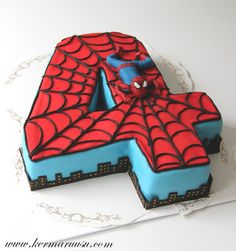 Spiderman Party Ideas | Spiderman Birthday Cake