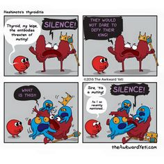 The Awkward Yeti [official] Akward Yeti, The Awkward Yeti, Cute Comics, Funny Comics, Heart And Brain Comic, Hypothyroidism Exercise, Comics Toons, Medical Humor, Science Humor