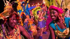 "Performers dressed in tribal inspired costumes at the nightly Discovery Island Carnival at Disney's Animal Kingdom park. l The Viva Gaia Street Band! and a spirited group of Islanders welcome you to a larger-then-life gala celebrating the wonder and beauty of nature and who we are together—the ""Nature Family."" l #WDW2017"