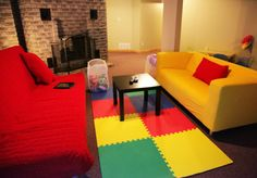 The Festive Basement For Kids With Charming Style - http://bcanes.com/the-festive-basement-for-kids-with-charming-style/