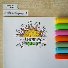 #100daysofdooodles #the100dayproject #doodle #drawing #markers #copic #instaart #summer #sun #рисунок #лето #маркеры #дудл #солнце