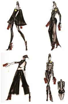 charactermodel:  Bayonetta character concepts - part 1