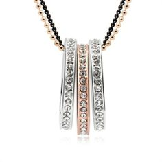 Exquisite Shine Jewellery Necklace by Swarovski Elements-Circle - Promotional Offers- - TopBuy.com.au