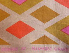Ray Komai Alexander Girard, Mid Century Modern Design, Mid Century Furniture, Midcentury Modern, Textiles, Quilts, Blanket, Fabric, Pattern