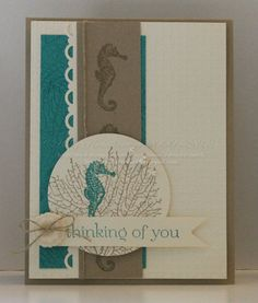 Stampin' Up! Handmade Thinking of You~ By the Tide Stamp Set