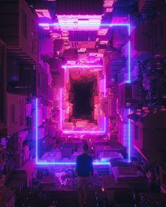 55 super ideas for pixel art wallpaper cyberpunk Arte Cyberpunk, Cyberpunk Aesthetic, Purple Aesthetic, Aesthetic Dark, Retro Aesthetic, Cgi, Neon Noir, Neon Wallpaper, Blue Wallpapers