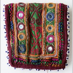 Afghanistan: Vintage Embroidered Pashtun Wallet or Pouch, Afghan Tribal Arts /// http://www.tafaforum.com/market/tafa-market-accessories/bags-and-purses/
