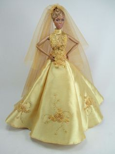 Handcrafted Outfit Wedding gown with veils Dress fashion Royalty 37-15