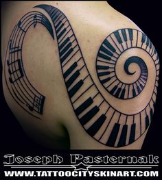 although the piano keys are wrong.and that bothers me. Spiral Tattoos, Key Tattoos, Great Tattoos, Tatoos, Music Tattoo Designs, Best Tattoo Designs, Chest Tattoo, Arm Band Tattoo, Cute Tats