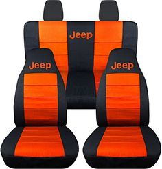 Jeep Wrangler JK (2011 to 2015) 2-Tone Seat Covers with Jeep: Black and Orange - Full Set (14 Colors Available) Designcovers http://www.amazon.com/dp/B00PUOG8LQ/ref=cm_sw_r_pi_dp_9nI7vb052NQCQ