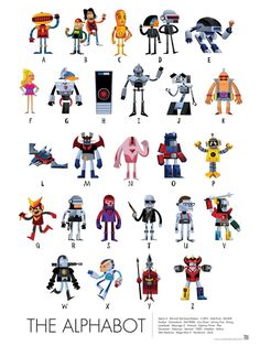 Test Your Pop Culture Knowledge: Robots A to Z by Tony bui