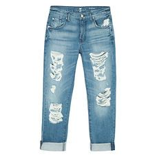 Calça jeans the relaxed skinny destroyed