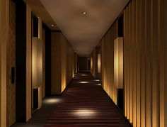 リッツカールトン京都 - Google 検索 Corridor Lighting, Interior Lighting, Luxury Interior, Hotel Hallway, Hotel Corridor, Corridor Design, Entrance Design, Corridor Ideas, Dark Interiors