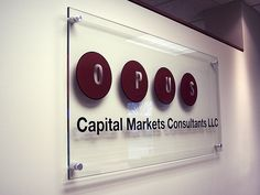 Glass Office Sign for Corporate Office by impactsigns.com, via Flickr