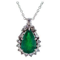Emerald & Diamond Pendant by H. Stern