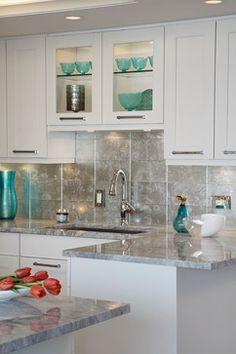 metallic glass tile backsplash for the kitchen ann sacks