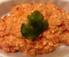 Rezept Feta-Paprika-Aufstrich mit Mandeln - Rezept aus der Kategorie Saucen/Dips/Brotaufstriche