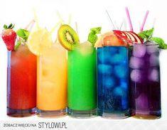 Fancy drinks Aug 2015 All cocktails belongs to fancy drink group. From left: Garibaldi ~ Campari ~ Orange juice Summer dream ~ White rum ~ Orange ju. Rainbow Drinks, Colorful Drinks, Fancy Drinks, Summer Drinks, Cocktail Drinks, Rainbow Fruit, Summertime Drinks, Colorful Fruit, Virgin Cocktails