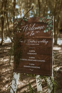 This large format signage gives us all the feels and for all the right reasons. We love the playful script font and dainty greenery elegantly adorning the corners of this customised design. Wedding Stationery, Wedding Invitations, All The Right Reasons, All The Feels, Large Format, Save The Date Cards, Photo Credit, Signage, Greenery