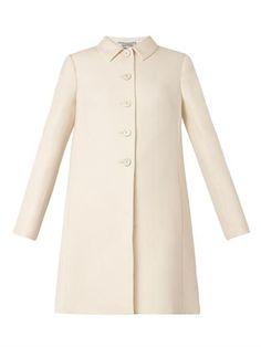 Wool and silk-blend evening coat   Valentino   MATCHESFASHION.COM