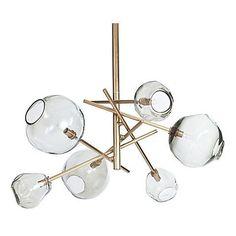 Molten Transparent Chandelier, Brass $1,999.00