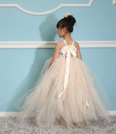 Christmas Ivory girl Tutu Dress birthday party by cuteflower99, $39.99