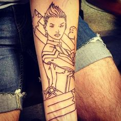 "Imperator Marqueso on Twitter: ""My new #CaptainMarvel tattoo (color otw). @kellysue #carolcorps http://t.co/ZaqhG6AlRm"""