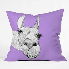 Casey Rogers Llama Throw Pillow $69.00