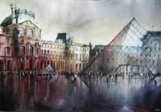 Paintings of French Architecture by Nicolas Jolly | Creative Boom Blog | Art, Design, Creativity