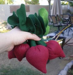 The Beets, just the beets .  Free tutorial with pictures on how to sew a vegetable plushie in under 30 minutes by sewing with scissors, felt, and thread. Inspired by vegetables. How To posted by Lady Llanalla. Difficulty: Simple. Cost: Cheap. Steps: 9