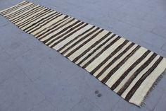 "12 ft 4"" x 33"" Vintage Runner Kilim Rug Turkish Handmade by CappadociaCarpetRugs"