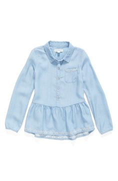 Main Image - Tucker + Tate Chambray Top (Toddler Girls, Little Girls & Big Girls)