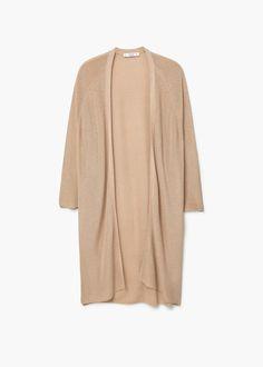 Textured knit cardigan | MANGO