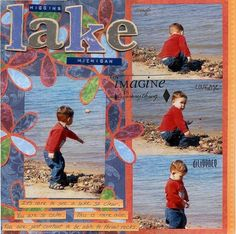 lake michigan scrapbook layouts   Visit twopeasinabucket.com