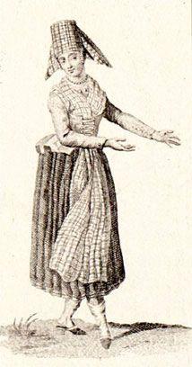 Hoofdstuk 5 'De Amsterdamse Drosten' door Bert Bolle. 18de-eeuwse klederdracht van de Hindelooper vrouw. #Friesland #Hindeloopen