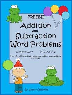 FREEBIE: PLEASE LEAVE SOME FEEDBACK!  ADDITION and SUBTRACTION WORD PROBLEMS (2 pages) - Solve word problems using number line, drawing, ten frame, and equation!