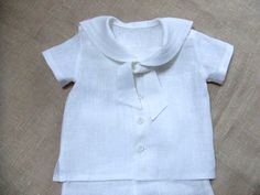 Baby boy sailor outfit baptism christening baby boy by Graccia