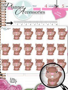 Sticker - Einhörnchen Sticker NR1019 - ein Designerstück von PlannerAccessories bei DaWanda