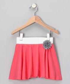 Coral Lazy Summer Skirt - Infant, Toddler & Girls